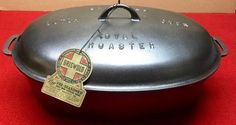 Griswold # 9 Cast Iron Oval Roaster #Griswold