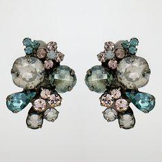 Bedazzle Clip Earrings $68