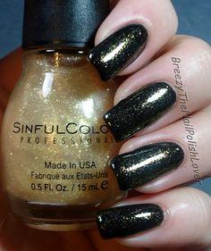 Sinful Colors - 24 Karat over black.
