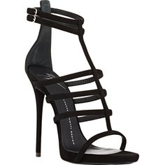 Giuseppe Zanotti Suede Strappy Sandals (€810) ❤ liked on Polyvore