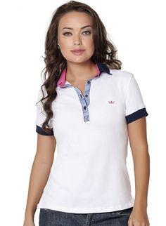 c23214dd7b 27 melhores imagens de Camisa Polo Feminina
