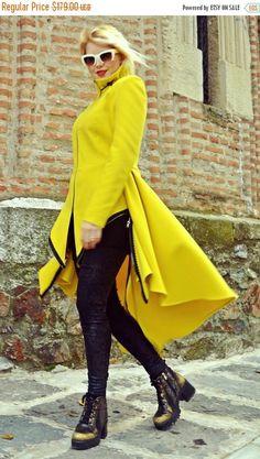 SALE 25% OFF Lemon Yellow Coat Long Tail Coat Extravagant https://www.etsy.com/listing/477938768/sale-25-off-lemon-yellow-coat-long-tail?utm_campaign=crowdfire&utm_content=crowdfire&utm_medium=social&utm_source=pinterest