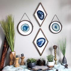 teal and white bathroom accessories Cactus Wall Art, Cactus Print, Diy Resin Art, Resin Crafts, Framed Wall Art, Wall Art Decor, Agate Decor, Resin Artwork, Modern Boho