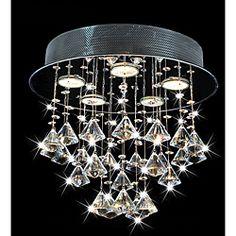 Round Chorus 5-light Chrome Ceiling Chandelier | Overstock.com Shopping - Big Discounts on Flush Mounts