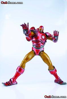 by Ashley Wood x Marvel Iron Man Original Action Figure Ashley Wood, Iron Man, Action Figures, Marvel, Models, Superhero, The Originals, Toys, Fictional Characters
