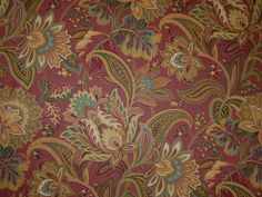 Mill Creek Jacobean Floral SPICE Green Teal Home Decor Sewing Drapery Fabric   eBay