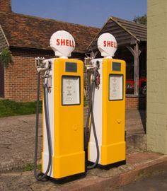 Petrol pumps at Harrietsham, Kent