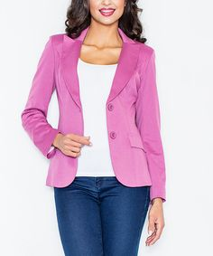 Take a look at this FIGL Pink Blazer - Plus Too today!