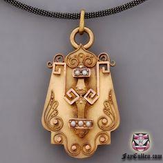 Antique Victorian Locket Necklace
