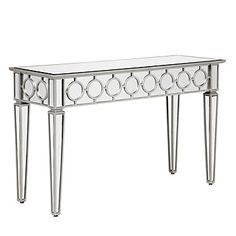 Grey becomes sophisticated in a shining silver finish. Sophie Mirrored Console Table, $499.00 #ZGallerie
