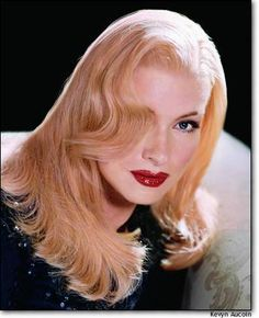 Martha Stewart as Veronica Lake (makeup by Kevin Aucoin)