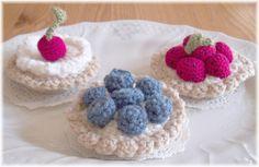 Crochet Vanilla Custard Fruit TartsPDF Pattern by KTBdesigns, $5,00