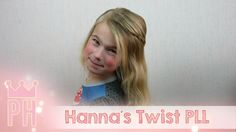 Hanna's Twist uit de serie Pretty Little Liars #PLL Deze twist maak je door een lok haar bovenop te pakken en bovenlangs aan beide zijde diagonaal naar het achterhoofd te twisten. Ik zag deze haarstijl in de serie Prettu Little Liars, bij Hanna. De serie is te zien op Netflix.