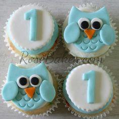 Boy Birthday Standing Owl Cake Smash Cake and Owl Cupcakes Owl Cupcakes, Cute Cupcakes, Baby Shower Cupcakes, Birthday Cupcakes, Cupcake Cakes, Fruit Cakes, Owl Birthday Cakes, Cake Pops, Cake Smash