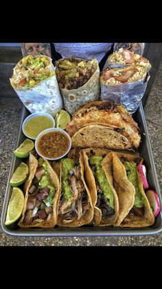 Burritos and Tacos - March 02 2019 at - and Inspiration - Yummy Fatty Meals - Comfort Foods Recipe Ideas - And Kitchen Motivation - Delicious Steaks - Food Addiction Pictures - Decadent Lifestyle Choices I Love Food, Good Food, Yummy Food, Tasty, Food Goals, Menu Restaurant, Aesthetic Food, Food Platters, Food Cravings