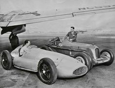 1939 Mercedes-Benz W154 Grand Prix racer and a pre-war Alfa Romeo