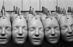 a bunch of rubber masks #mask #masque #maschera #mascara #head #testa #weird - Carefully selected by GORGONIA www.gorgonia.it
