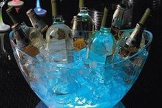 For outside or nighttime parties, bury glowsticks in the ice! -engagement party idea