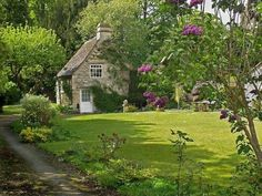 stone cottages | Stone Cottage with Lilacs | Content in a Cottage