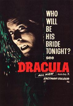 Scary Movies, Old Movies, Vintage Movies, Hammer Horror Films, Hammer Films, Horror Movie Posters, Horror Movies, Horror Pics, Espanto