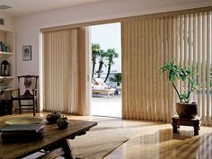 Complementing your interior with Vertical Blinds.