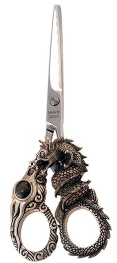 hair cutting scissor ~•~ These are for hair but I want them as sewing scissors.