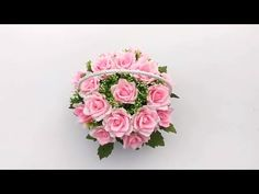 How to make Basket rose flowers with crepe paper - Diy BigBoom ❀ Diy paper flowers tutorial - YouTube