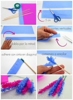 Crepe paper flowers diy via stewart living – ArtofitQuilled hyacinths {interesting: this quiller does NOT fold the paper (petal part) in half; Tissue Paper Flowers, Felt Flowers, Diy Flowers, Diy Arts And Crafts, Diy Crafts, Diy Paper, Paper Crafts, Paper Quilling Designs, Flower Shape