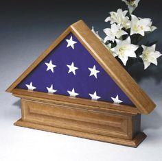 Urns Northwest  - Veteran Urn and Flag Display, $499.00 (http://urnsnw.com/products/Veteran-Urn-and-Flag-Display.html)