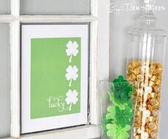 26 DIY Decor for St. Patricks Day and March - Tip Junkie  dsj - Look at pic just sitting in window frame
