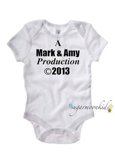 "Personalized Baby Onesie ""A _ & _ Production"""