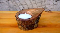 Rustic Wood Candle Holders Wooden Candle Holders by latwoodyworld, $15.00