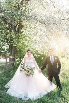 Beautiful Bride in Blush Tara Keely Gown With Handsome Groom | The Majestic Vision Wedding Planning | Rustic Manor in Milwaukee, WI | www.themajesticvision.com | Elizabeth Haase Photography