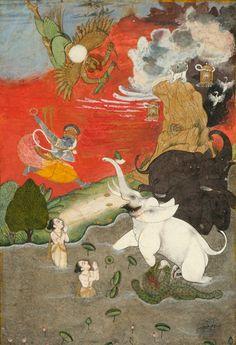 Vishnu Saving the Elephant