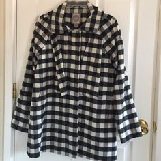 Forever 21 Coat Black and white plaid print from Forever 21- only worn twice- no damages. Forever 21 Jackets & Coats