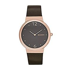 Time to check out the latest women's watch from Skagen. In watch styles from mesh metal to leather straps, our signature thin watches are classic timepieces. Latest Women Watches, Skagen, Fashion Beauty, Lady, Accessories, Shopping, Amazon, Style, Leather