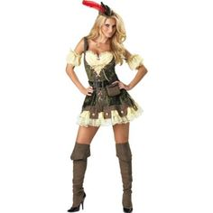 Racy Robin Hood Costume features a sexy medieval corset dress with puff sleevelets. All-inclusive Robin Hood Costume also comes with a petticoat and archer's hat. Robin Hood Halloween Costume, Robin Costume, Hallowen Costume, Sexy Halloween Costumes, Halloween Kostüm, Adult Costumes, Costumes For Women, Women Halloween, Spirit Halloween