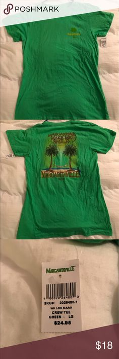 120196418013 Green Margaritaville Women s T-shirt Green Margaritaville T-shirt. Women s  size Large.