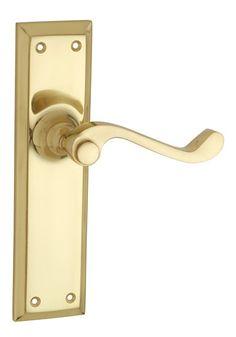 Brass Lever Door Handle Passage Milton (Set)