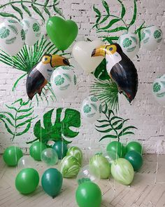 How fun is this assortment of balloons? >>>>> Covering Private Events: Wedding Birthday BabyShower Bachelorette Bachelor Anniversary Reunion >>>>> - of the respective owner >>>>> Jungle Theme Birthday, Jungle Theme Parties, Wild One Birthday Party, Safari Party, Animal Birthday, Baby Party, First Birthday Parties, Jungle Safari, Jungle Party Decorations