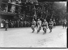 14/7/18, les Polonais [défilé des troupes] : [photographie de presse] / [Agence Rol] Blue Army, World War I, Wwi, Troops, Military, Polish, Outdoor, Polish Language, Photography