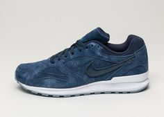 Nike Air Pegasus New Racer PRM (Obsidian / Obsidian - White - Blue Grey)