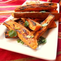 "Tropical Sweet Potato Fries | ""Sweet potatoes make a perfect summer treat, especially with a nice twist by using lime zest!"""