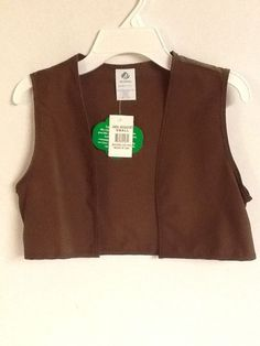 Girl Scouts Brownie Vest Brown Size Small Regular Uniform New!  #GirlScoutsofAmerica #Vest #Brownies