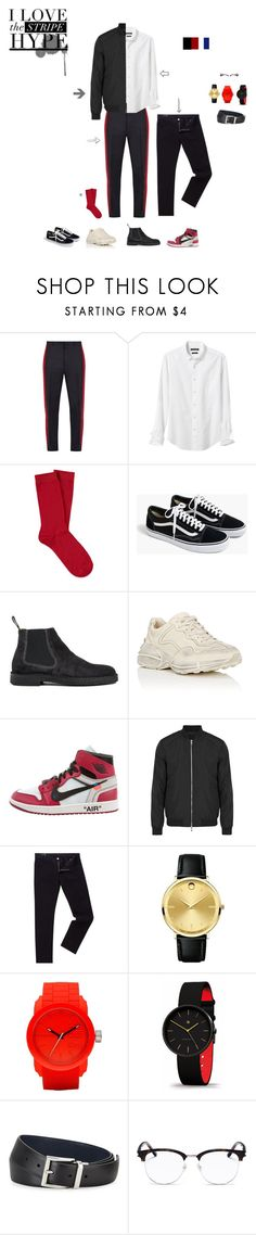 """""""Man Partyyy"""" by aude-julie-alingue ❤ liked on Polyvore featuring Lanvin, Banana Republic, Forever 21, J.Crew, Paul Smith, Gucci, Off-White, J.Lindeberg, Armani Exchange and Movado"""