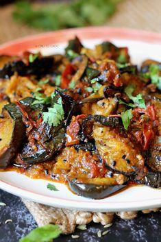 Curry Recipes, Vegetarian Recipes, Cooking Recipes, Healthy Recipes, Vegetarian Dish, Savoury Recipes, Indian Veg Recipes, Vegetable Recipes, Indian Eggplant Recipes