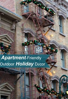 Do you live in an #apartment and are unsure of how you can be fun and #festive this holiday season with your limited outdoor space? We have come up with apartment-friendly outdoor décor ideas that are sure to fill your neighbors with #holiday cheer!