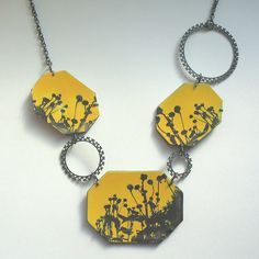 Enamel necklace by Sally Grant