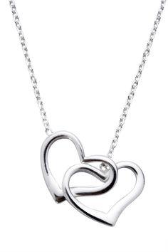 Double Open Heart Necklace