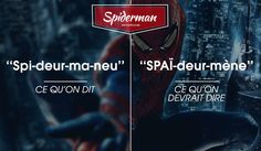 spiderman Spiderman, France Vs, Vs The World, Noms, List, Movie Posters, Movies, Bookstores, Language